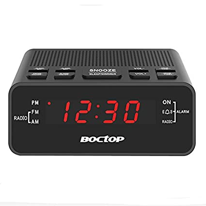 Alarm Clock Radio Digital AM FM With Snooze Sleep