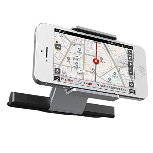Universal con 360/°Rotaci/ón Montaje para iPhone,Samsung,Xiaomi y Android M/óviles Dispositivo GPS y m/ás Ancho de 55-90 mm iVoler Soporte M/óvil Coche One Touch Instalaci/ón para Ranura de CD de Coche