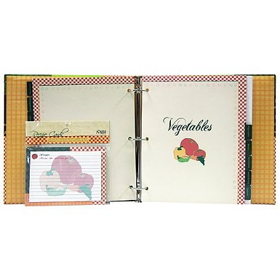 Scrapbook With Recipe Cards 3-Rings Set of (Anna Griffin Scrapbook Pages)