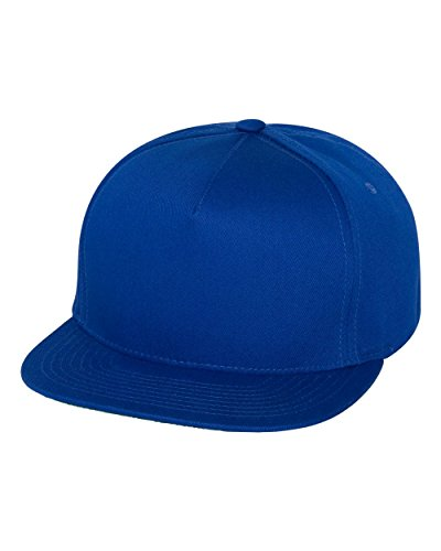 Yupoong mens Adult 5-Panel Cotton Twill Snapback Cap(Y6007)-ROYAL-OS