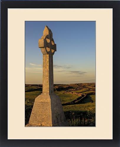 Framed Print of Inishmore Island.Aran Islands. Ireland. Celtic cross on tombstone by Fine Art Storehouse