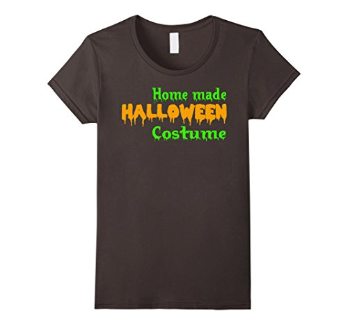 Homemade Halloween Costumes Ladies (Womens Home Made Halloween Costume T-Shirt Small Asphalt)