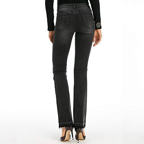 Alta Pantaloni Moda Nero Tendenza Donna Slim S Mvguihzpo Jeans Jeans Nuovi Divisi M Vita E XTqfvw8