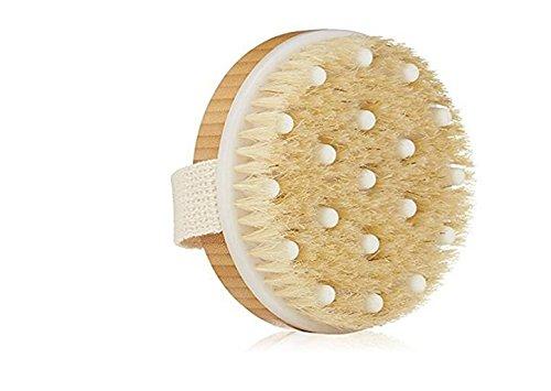 Dry / Wet Body Brush Natural Boar's Bristle Wet Massage B...
