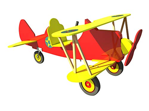 Pedal Car Biplane Plans DIY Kids Baby Ride On Air Plane Boy Girl Outdoor Toys