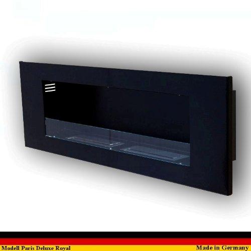 Ethanol und Gelkamin Kamin Modell Paris Deluxe Royal - Wählen Sie die Farbe (Schwarz)