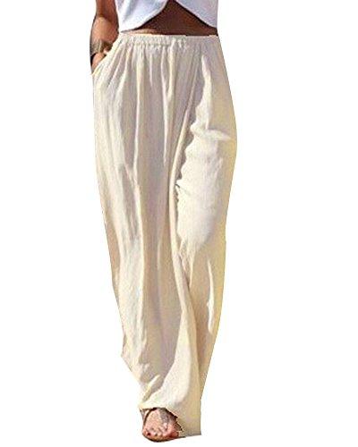 Moda Ragazze Svasato Chiffon A Plus Trousers Comodi Gamba Albicocca Casuali Donne Larghi Pantaloni Palazzo Larga Minetom Taglia Estivi 5twxgqxC