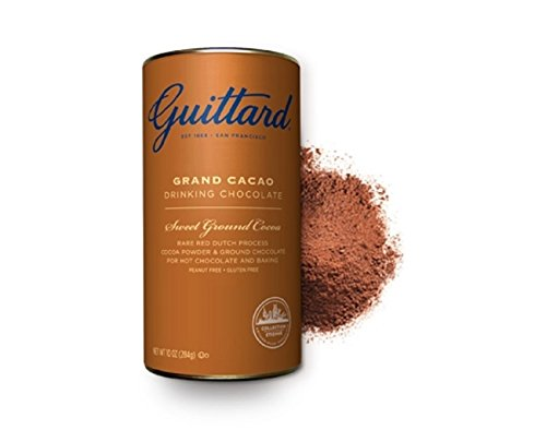 - E. Guittard Grand Cacao fine Dutched Drinking Chocolate (3 Pack) with ground chocolate for hot chocolate and baking