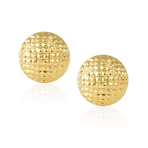 ve/Mesh Ball Children Screwback Baby Girl Stud Earrings – Charming with Secure Backings ()