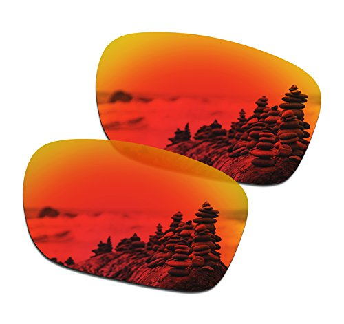 SmartVLT Men's Fire Red Replacement Lenses for Oakley Holbrook - Holbrook Lens Fire Oakley Iridium