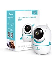 HeimVision HM202 1080p HD Wireless Security Camera with Smart Night Vision/PTZ/Two-Way Audio, 2.4Ghz WiFi Home Surveillance IP Camera for Baby/Pet Monitor