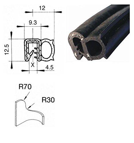 eutras Joint Profil ksd2055Coffre Joint de porte Joint de Moteur Joint Profilé d'étanchéité Joint en caoutchouc keder Protection des Bords Disque en caoutchouc Profil en caoutchouc d'étanchéit&eacut