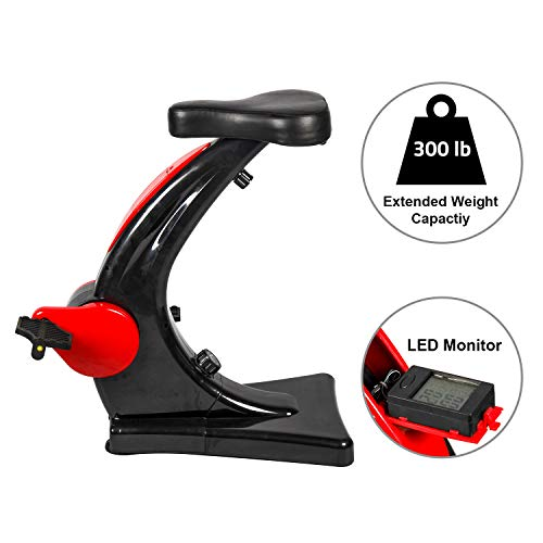 Wonder Maxi Desk Exercise Equipment Standing Desk Exercise Bike Pedal Exerciser with Adjustable Resistance for Home Office