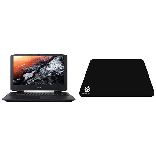 Acer Aspire VX 15 Gaming Laptop, 7th Gen Intel Core i7, NVIDIA GeForce GTX 1050 Ti, 15.6 Full HD, 16GB DDR4, 256GB SSD, VX5-591G-75RM with SteelSeries QcK Gaming Mouse Pad - Black bundle