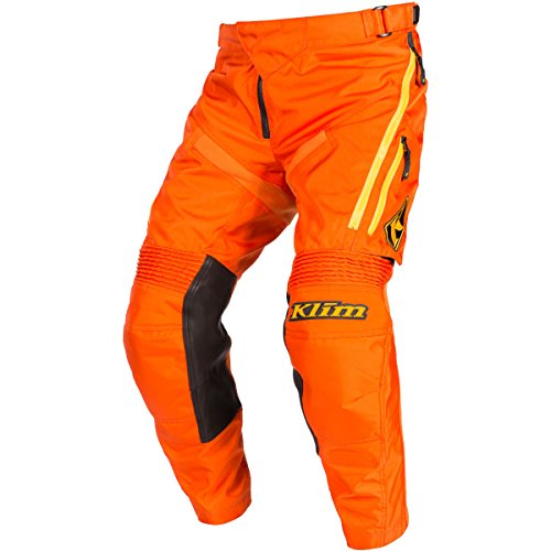 Klim Dakar In The Boot Men's Dirt Bike Motorcycle Pants - Orange / Size 34 (Dirt Bike Pants Over Boot)