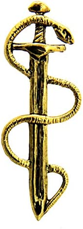 Creative Pewter Designs - Snake Lapel Brooch Pin Handmade in The USA - Available in Pewter Copper & 22k Gold Plated & Hand Painted\u2026