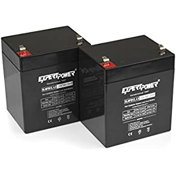 ExpertPower 12V 4.5AH Sealed Lead Acid (SLA) Battery - F1 Terminal / 2 Pack
