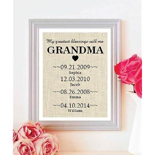 personalized grandma gifts amazon com