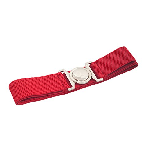EVogues Plus size Round Buckle Elastic Belt Red - One Size Plus