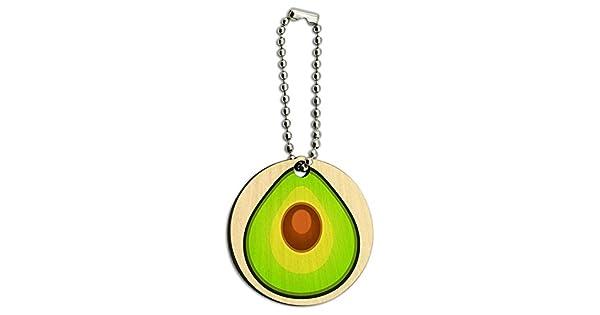 Amazon.com: Aguacate de madera, Round key Cadena: Automotive