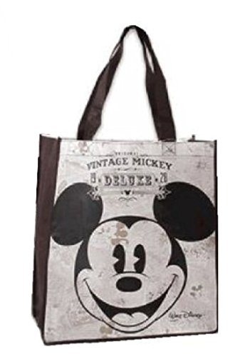 Vintage Style Mickey Mouse Face Non-Woven Tote (Disney Tote Bag)
