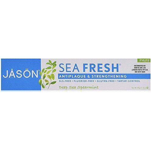 Jason Sea Fresh Antiplaque & Strengthening Toothpaste, Deep Sea Spearmint 6 oz (Antiplaque Toothpaste Spearmint)