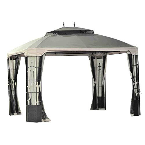 Sunjoy Replacement Canopy Set for 10x12ft Bay Window Gazebo