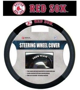 Fremont Die FMT-68502 Boston Red Sox Mlb Mesh Steering Wheel (Red Sox Steering Wheel Cover)
