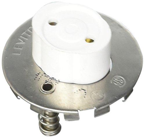 Leviton 13518 Medium Base, Bi-Pin, Standard Fluorescent Lampholder, White
