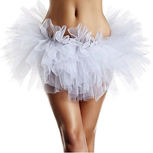 White Adult Tutus (UNIQLED Women Adult Tutu Skirt)
