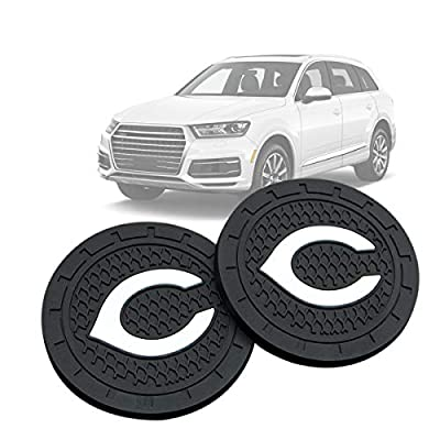 Wall Stickz Auto Parts 2PCS 2.75 Inch with American Baseball Team logoTough Auto Cup Holder Mat Anti Slip Coaster Durable Car Interior Accessories for All Brands of Cars (Cincinnati Reds): Automotive