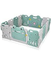 Baby Vivo Looprooster voor baby's, afsluitrooster, kruiprooster, beschermingsrooster voor kinderen, van kunststof - Fridolin