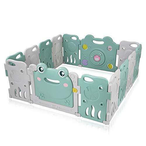 Baby Vivo Baby Box Tweelingbox Kruipbox Krabbelpark Speelbox Veiligheidshek Playpen Baby Kunststof – Fridolin