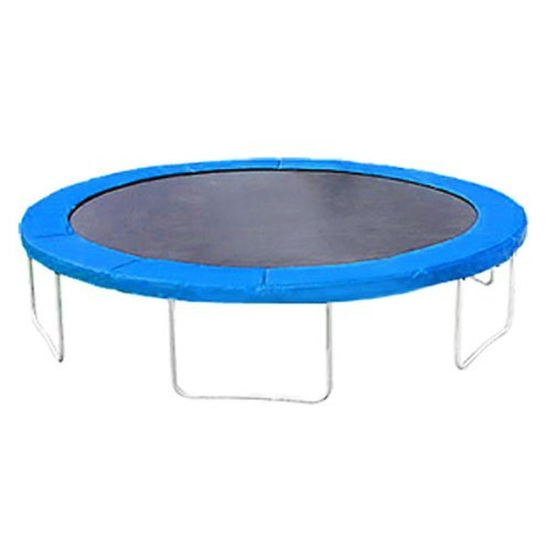 Blue Round Frame Trampoline Safety Pad 14'' with Tie Downs by GC Global Direct