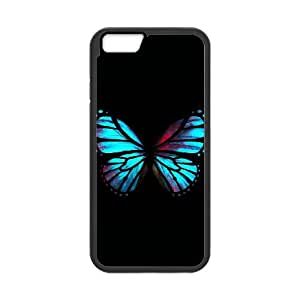 Blue Red Butterfly iPhone 6 4.7 Inch Cell Phone Case Black AMS0671458