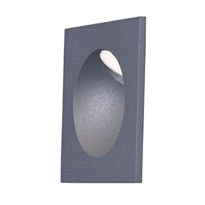 "Maxim 58004 Path 1 Light 4"" Wide LED Outdoor Wall Sconce with Glass Shade,"