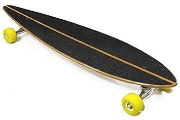 Monopatin Madera Skate Longboard ejes aluminio, 101 cms , ruedas ROJAS O AMARILLAS: Amazon.es: Deportes y aire libre