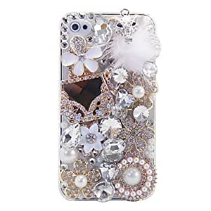 YXF Solid Color Crystal Surface Full Body Case for iPhone 5/5S(Assorted Color) , Black