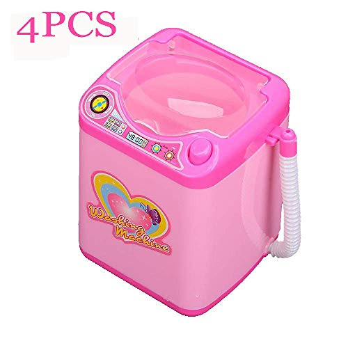 Makeup Brush Cleaner Device Simulation Automatic Cleaning Washing Machine Mini Toy (Pink)