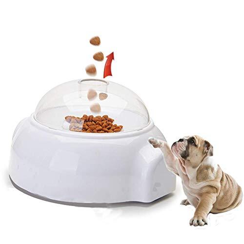 Adusa Pet Launcher Toy, Fun Interactive Treat Food Dispenser Thrower Toy,Dog Cat Slow Feeder - Treat Launcher