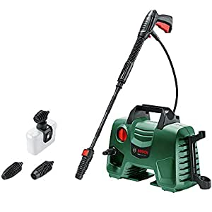 Bosch High Pressure Washer EasyAquatak 120 (1500 Watt, 120 Bar / 1740 PSI, High Pressure Gun, Lance, 5 m Hose, Variable Fan Jet Nozzle, Rotary Nozzle and Detergent Nozzle Included, in Box)