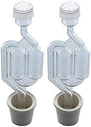 Individual Airlock de burbujas y tapón (paquete de 2)
