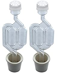 Twin Bubble Airlock and Carboy Bung (Pack of 2)