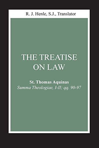Treatise on Law, The: (Summa Theologiae, I-II; qq. 90-97) (Notre Dame Studies in Law and Contemporary Issues)