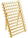 Hardwood 120 Spool Thread Rack with Wall Hanging Hardware for Sewing Quilting Embroidery threads Mini Cones
