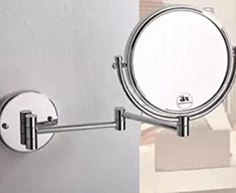Amazon.com: Makeup Mirror, 8'' Wall Mounted Extending Shaving Makeup on extendable makeup bathroom mirror, extendable shaving mirror, extending makeup mirror,
