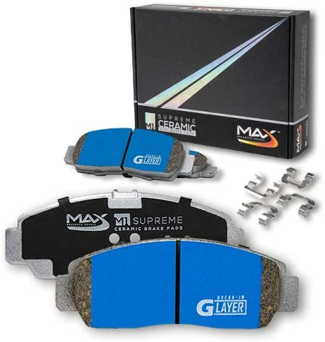 Max Brakes Front M1 Supreme Ceramic Premium Disc Brake Pads KM142651 Fits 2006 06 Benz E350 4Matic Excl.Sport Pkg