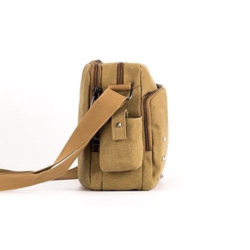 MeCool Umhängetasche Herren Retro Schultertasche Kleine Canvas Messenger Taschen für Sporttasche Outdoor Freizeit Schule Segeltuch Reisetasche Strandtasche Günstige Freitag Handtaschen