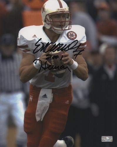 Eric Crouch Autographed Signed Auto Nebraska Huskers Action 8x10 Photograph 2001 Heisman - Certified Authentic