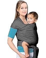 MTURE Babytragetuch, Babytrage für Männer und Frauen,Tragetuch Tragehilfe Sling Baby (Grau)